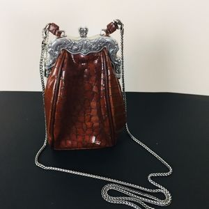 Vintage Brighton Purse Silver and Leather